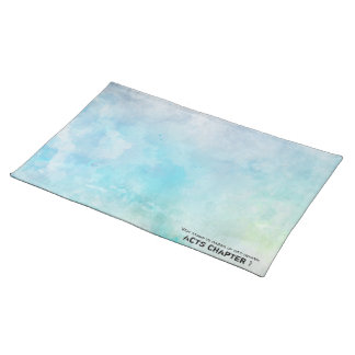 Why stand ye gazing up into heaven placemat