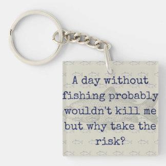 """Why take the risk? Carp fishing keyring"" Key Ring"