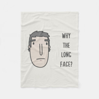 Why the long face? fleece blanket