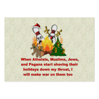 Why There s War On Christmas Business Card