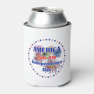 Why We Celebrate July 4th Beverage Can Cooler