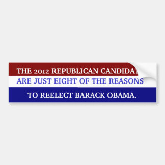 WHY WE NEED TO REELECT OBAMA BUMPER STICKER