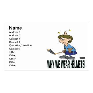 Why We Wear Helmets Business Card Template