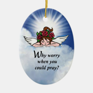 Why Worry? Ceramic Oval Decoration