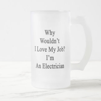 Why Wouldn't I Love My Job I'm An Electrician Frosted Glass Mug