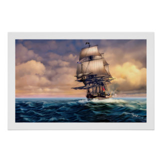 Whydah Gally Historic Ship Painting Art Print