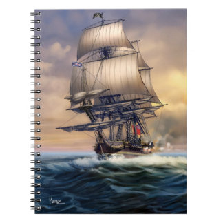 Whydah Gally Historic Ship Painting Gift Notebooks