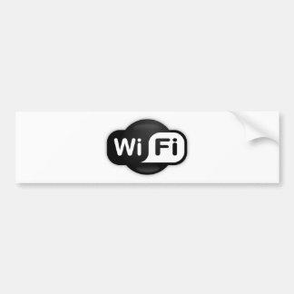 Wi-Fi Hot Spot Bumper Sticker