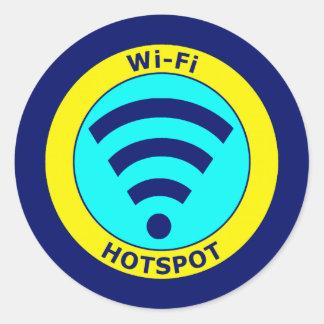 Wi-Fi Hotspot Classic Round Sticker