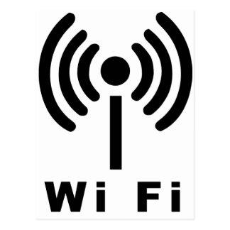 Wi Fi Symbol Postcard