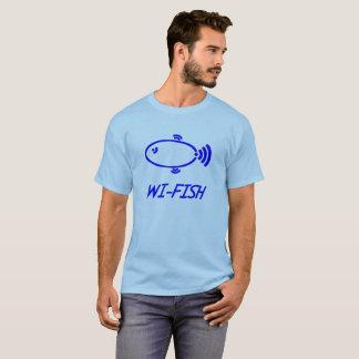 WI-FISH Wi-Fi Fish fun design T-Shirt