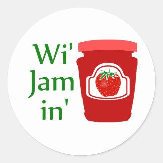 Wi' Jam in (we're Jammin) Sticker