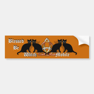 Wicca Blessed Be Witch-Mobile Car Bumper Sticker