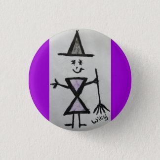 wicca child 3 cm round badge