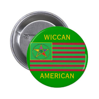 Wiccan American Button