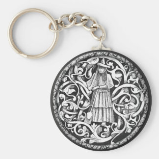 Wiccan Basic Round Button Key Ring