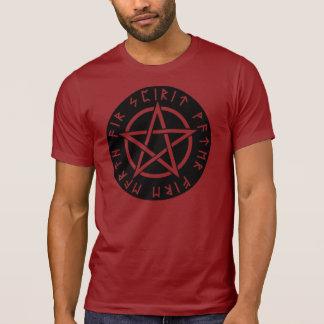 Wiccan Black Runic Pentagram T-shirts