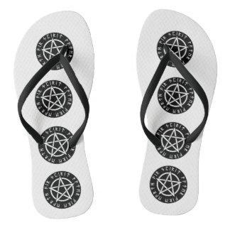 Wiccan Black Runic Pentagram Thongs
