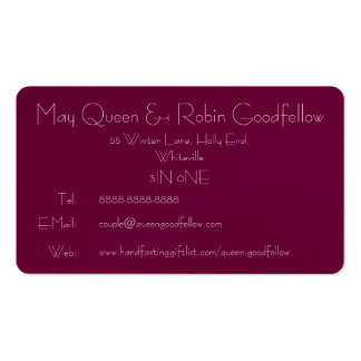 Wiccan Bride & Groom's Contact Card: God & Goddess Double-Sided Standard Business Cards (Pack Of 100)