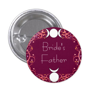 Wiccan Bride's Father Badge - God & Goddess Red
