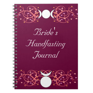 Wiccan Bride's Journal Triple Goddess & Horned God Notebook
