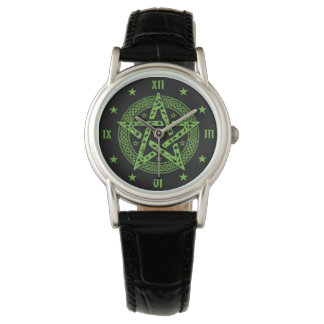 Wiccan Celtic Pentgram Symbol Watch