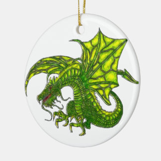 Wiccan Dragon 2 Ceramic Ornament