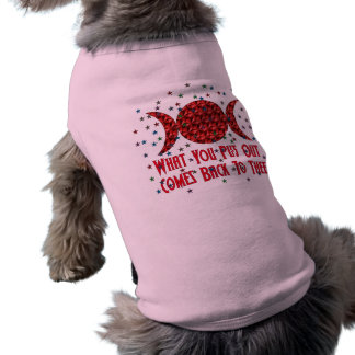 Wiccan Karma Sleeveless Dog Shirt