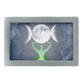 Wiccan Mother Earth Goddess Moon Belt Buckle