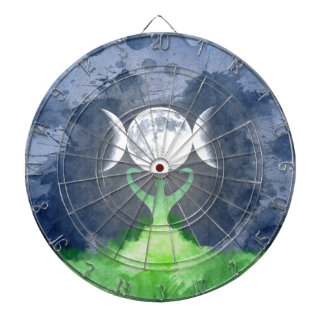 Wiccan Mother Earth Goddess Moon Dartboard