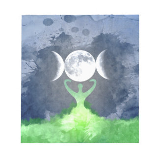 Wiccan Mother Earth Goddess Moon Notepads