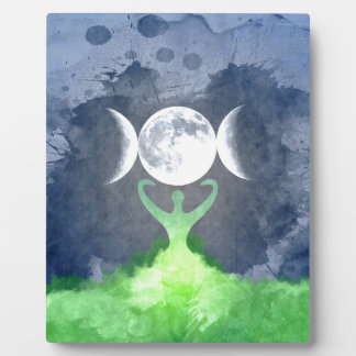 Wiccan Mother Earth Goddess Moon Plaque
