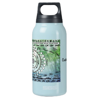 Wiccan Pagan Pendulum Chart Insulated Water Bottle