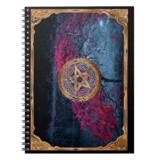 Wiccan Pagan Pentagram Alter Cloth Spiral Notebook