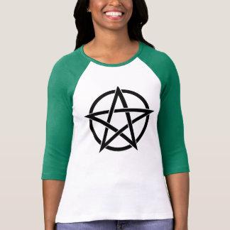 Wiccan Pentacle Raglan Shirt