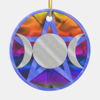 Wiccan Pentagram Triple Goddess Ornament