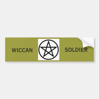 Wiccan Soldier Bumpersticker Bumper Sticker