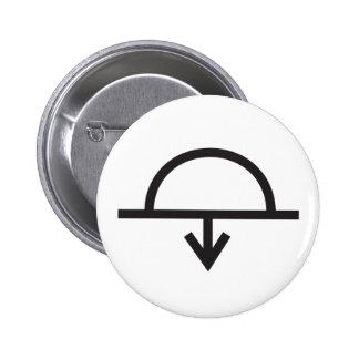 Wiccan Sunset Symbol 6 Cm Round Badge