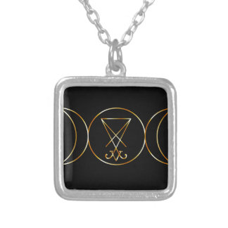 Wiccan symbol, Triple Goddess Silver Plated Necklace