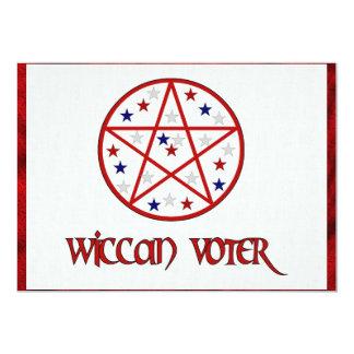 WICCAN VOTER 13 CM X 18 CM INVITATION CARD