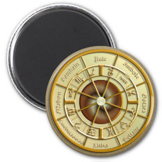 Wiccan Wheel of the Year Refrigerator Magnet