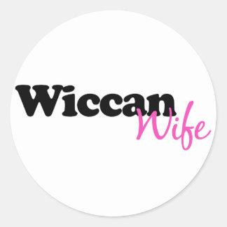 Wiccan Wife Classic Round Sticker