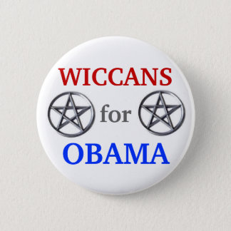 Wiccans for Obama 2012 button