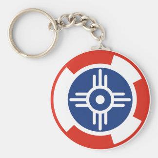 Wichita Air Squadron Roundel Basic Round Button Key Ring