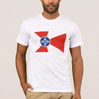 Wichita city flag  Kansas state America country T-Shirt