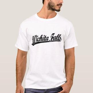 Wichita Falls script logo in black T-Shirt