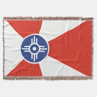 Wichita Kansas ICT Flag Throw Blanket