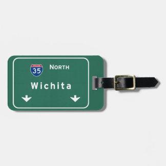 Wichita Kansas ks Interstate Highway Freeway : Luggage Tag
