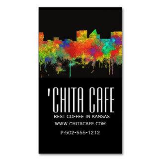 Wichita Kansas  Skyline-SG Magnetic Business Card