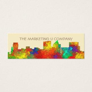 Wichita Kansas  Skyline-SG Mini Business Card